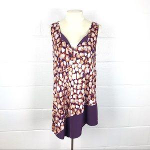 Simply Vera tunic top Asymmetrical hem sz Large